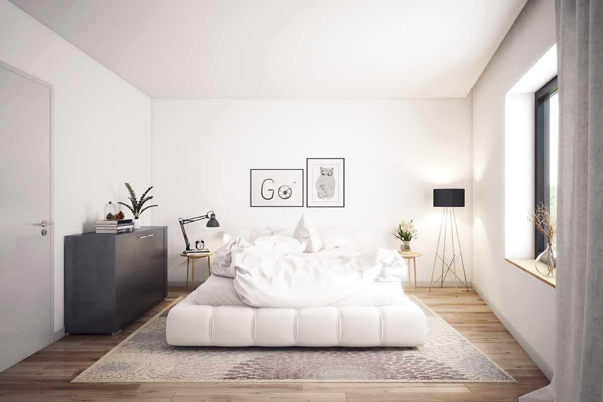 Kết quả hình ảnh cho phong ngủ gam màu trắng