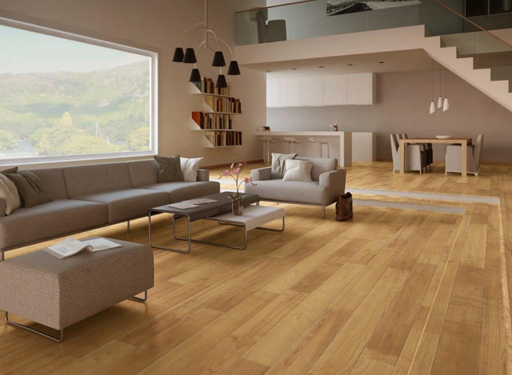Bí quyết chọn màu sàn nhựa giả gỗ cho phòng khách