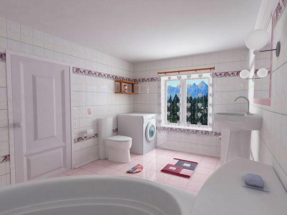 Mẫu phòng tắm đơn giản dễ thiết kế