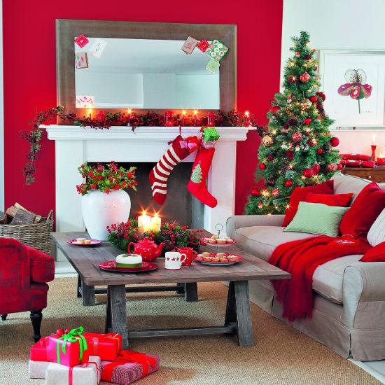 Phòng khách sang trọng lấp lánh cho mùa giáng sinh