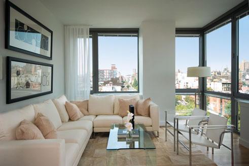 Sử dụng hợp lý màu sắc để phòng khách sống động