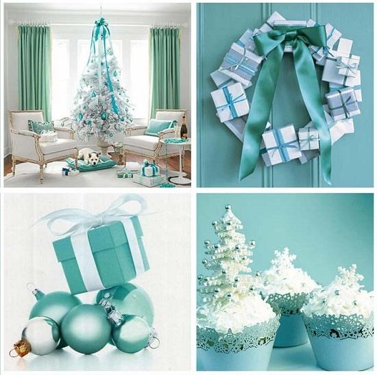 Trang trí nhà màu xanh da trời cho đêm giáng sinh thêm yên bình