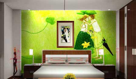 Trang trí phòng ngủ mùa hè với các mẫu giấy dán tường