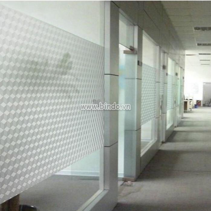 Decal dán tường Decal dán kính hình lập phương mờ