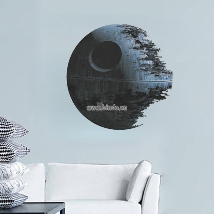 Decal dán tường Hành tinh chết 3D