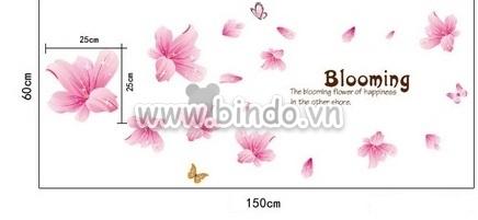 Decal dán tường Họa tiết hoa ly hồng