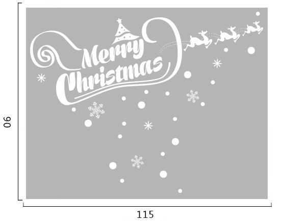 Decal dán tường Noel 90 -Giáng sinh và tuần lộc