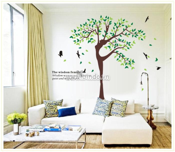 Decal dán tường Vũ điệu cây xanh