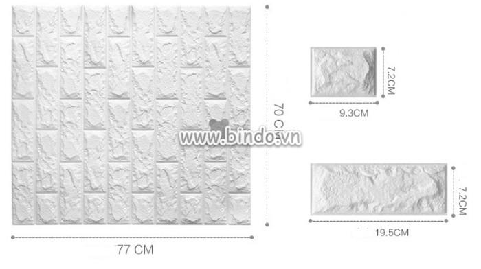 Xốp dán tường màu trắng (8mm)