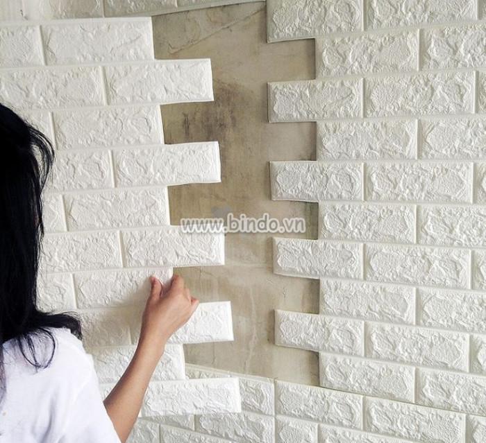 trang trí nhà bằng xốp dán tường