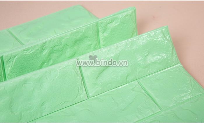 Xốp dán tường màu xanh lá lợt (KNZ)