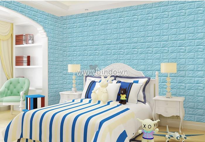 Xốp dán tường màu xanh da trời (KNZ)
