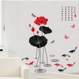 Decal dán tường Đầm sen (hoa sen) 2