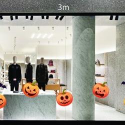 Decal dán tường Trang trí Halloween bí ngô số 1