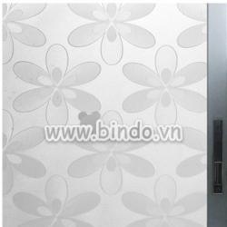 Decal dán tường Decal dán kính hoa 6 cánh mờ