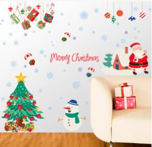 Decal dán tường Noel 9 (ông già noel và người tuyết)