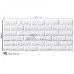 Decal dán tường Xốp dán tường hàn quốc màu trắng (100x45)