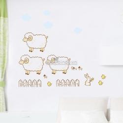 Decal dán tường 3 chú cừu