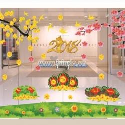 Decal dán tường Trang trí ngày xuân