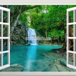 Decal dán tường Tranh cửa sổ Erawan National Park, Thailand