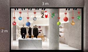 Decal dán tường Trang trí Noel quả châu 1