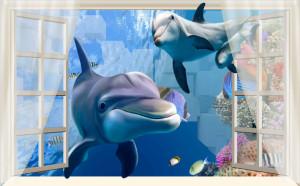 Decal dán tường ĐẠI DƯƠNG 3D SỐ 5