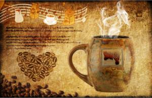 Tranh nghệ thuật tách cà phê