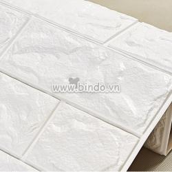 Decal dán tường Xốp dán tường màu trắng (KNZ)