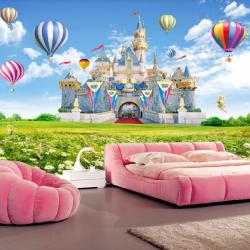 Tranh lâu đài và khinh khí cầu số 1