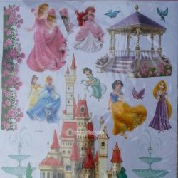 Decal dán tường 7 nàng công chúa 3D