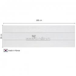 Decal dán tường Xốp giả gỗ hàn quốc white (100x30)