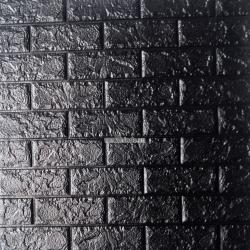 Decal dán tường Xốp đá dán tường màu đen (8mm)