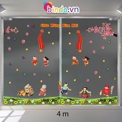 Decal dán tường Trang trí Tết Xuân Combo Số 11