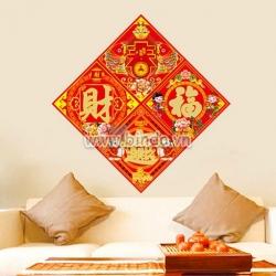 Decal dán tường Bộ chữ Phước Lộc Thọ