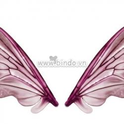 Decal dán tường Cánh bướm 3D tím