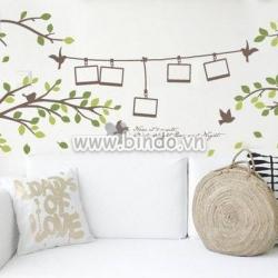 Decal dán tường Cành cây photo