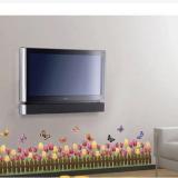Decal dán tường Chân tường hoa tulip