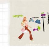 Decal dán tường Cô gái thời trang