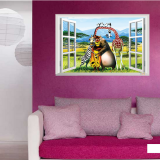 Decal dán tường Cửa sổ thú hiệu Zooyoo
