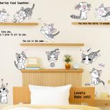 Decal dán tường Đàn mèo vui nhộn