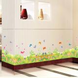 Decal dán tường Decal chân tường hoa mùa xuân