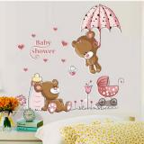 Decal dán tường Đôi bạn gấu