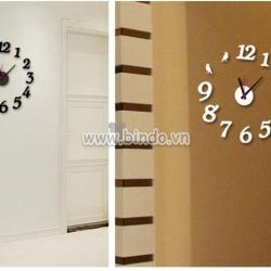Decal dán tường Đồng hồ chữ số 2