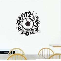 Decal dán tường Đồng hồ chữ số