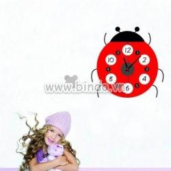Decal dán tường Đồng hồ con bọ
