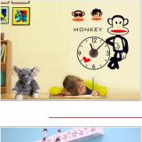 Decal dán tường Đồng hồ monkey