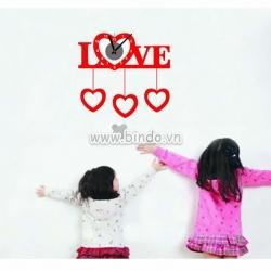 Decal dán tường Đồng hồ tình yêu