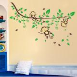 Decal dán tường Gia đình khỉ 2 hiệu Zooyoo
