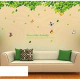 Decal dán tường Giàn cây xanh lá to