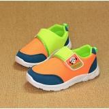 Giày cho bé màu xanh cam đen
